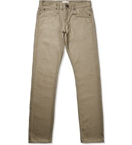The Unbranded Brand UB207 Tapered Selvedge Beige Chino Picture