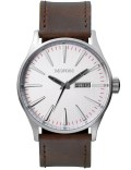 Nixon Sentry Leather with Silver Dial Picutre