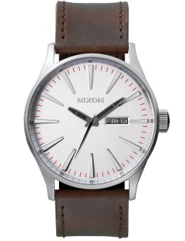 Nixon Sentry Leather with Silver Dial Picture
