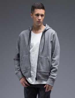 Naked & Famous Light Grey Vintage Terry Slim Hoodie Picture