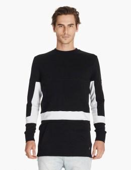 ZANEROBE Black/white Broken Crewneck Sweatshirt Picture
