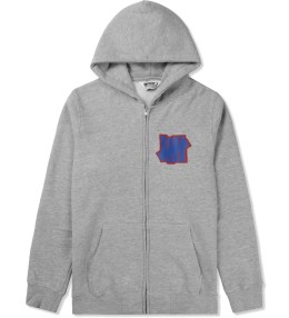 UNDEFEATED Heather Grey Double 5 Strike App Zip Up Jacket Picture