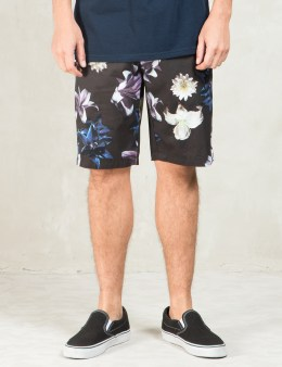 Stussy Black Flower Shorts Picture