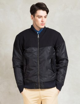 SATURDAYS NYC Black Christo Bomber Jacket Picture