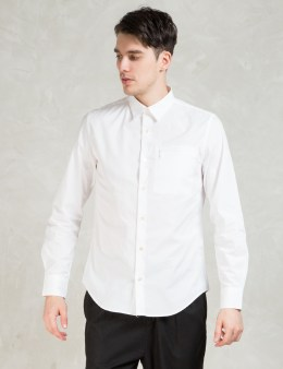 Opening Ceremony White Powell Poplin Zip Pocket Slim Shirt Picture