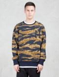 HUF Golden Tiger Stripe Camo Sweatshirt Picture