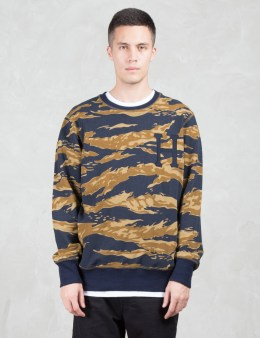 HUF Golden Tiger Stripe Camo Sweatshirt Picture