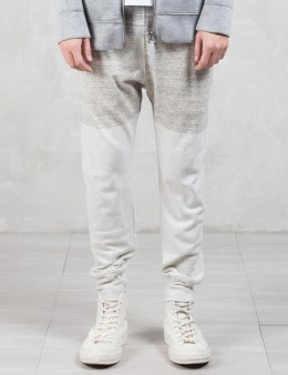 HELMUT LANG 2 Tone Gradient Heather Curved Leg Track Pants Picture