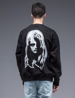 SAM by Warren Lotas Black Crewneck Sweatshirt Style C (Size M) Picture