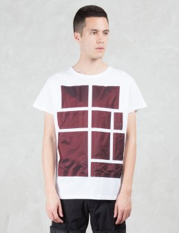 LETASCA Bordeaux Metallic Blocking S/S T-Shirt Picture