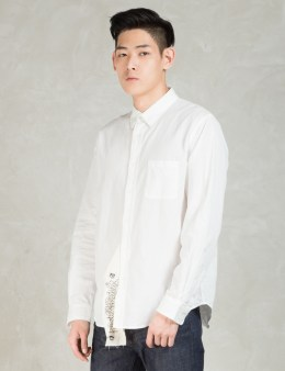 PHENOMENON White L/S Big Tag Shirt Picture