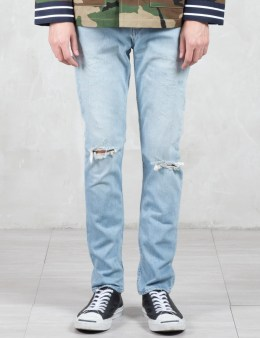 PHENOMENON Washed Damage Jeans Picture