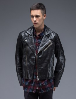 MKI Black Black High Grain Biker Jacket Picture