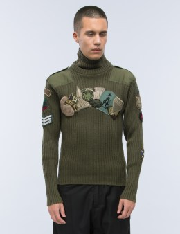 maharishi Upcycled Polo Neck Sweater Picture