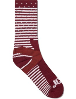 ICNY Burgundy Half Calf Socks Picture