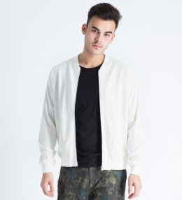 Shades of Grey by Micah Cohen White Knit Bomber Jacket Picture