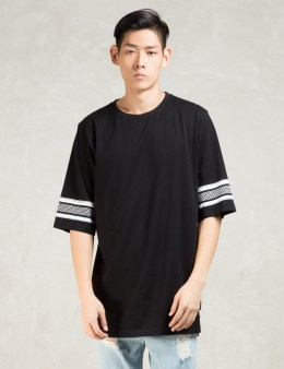 STAMPD Black S/S 3scallop T W/mayan Print T-Shirt Picture