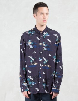 Paul Smith Red Ear Tropical Pattern L/S Shirt Picture