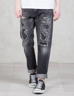Denim by Vanquish & Fragment Black Five Years Wide Straight Denim Pants Picture