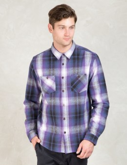 Stussy Purple Heavy Brushed Flannel Picture