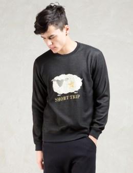 FACTOTUM Black L/S Short Trip Sweatshirt Picture