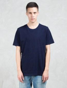 Denham Signature Indigo Fleck S/S T-Shirt Picture