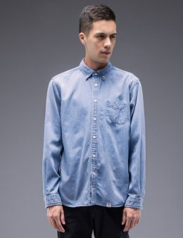"BEDWIN & THE HEARTBREAKERS ""Wyatt"" L/S Button Down Denim Shirt Picture"