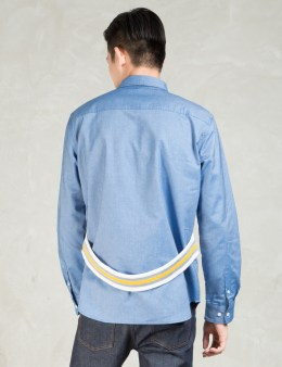 PHENOMENON Blue L/S W Rib Shirt Picture
