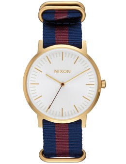 Nixon Porter Nylon with Gold Case White Dial Picture