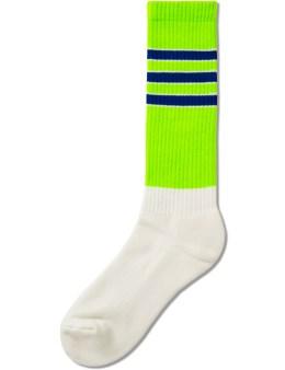 Hombre Nino Green Line Skate Socks Picture
