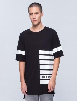 HELMUT LANG Logo Stripe Print Oversized T-Shirt Picture
