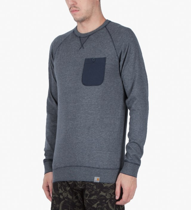 Carhartt WORK IN PROGRESS Grey Heather/Blue Penny Murray Strip Sweater