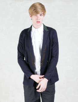 kolor Double Breasted Contrast Collar Blazer Picture