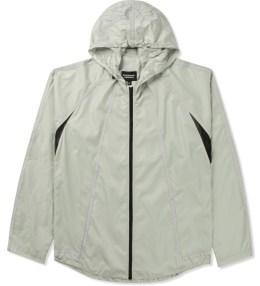 Christopher RAEBURN Grey Lightweight Hooded Zip Front Jacket Picture
