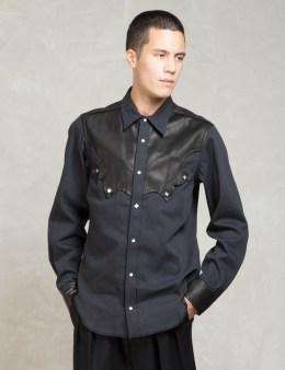 SASQUATCHFABRIX. Black Western L/s Shirts Picture