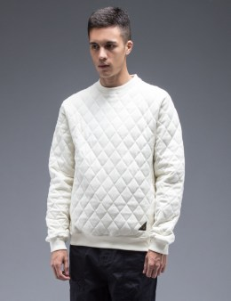 10.DEEP Off White X-box Quilt Crewneck Sweater Picture