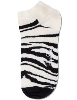 Happy Socks Black/White Zebra Low Socks Picture