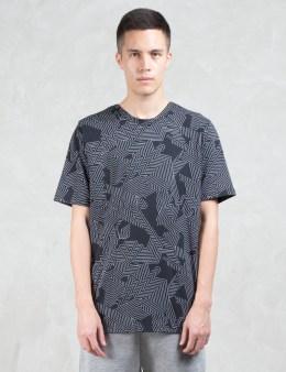 HELMUT LANG Labyrinth Print S/S T-Shirt Picture