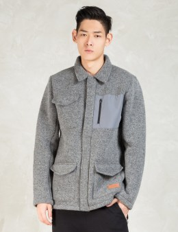 IUTER Grey Button Wool Jacket Picture