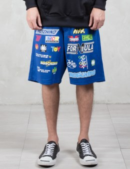 MOSCHINO Multi Logo Racer Shorts Picture