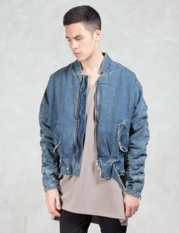Dominans Stravan Stone Wash Denim Bomber Jacket Picture