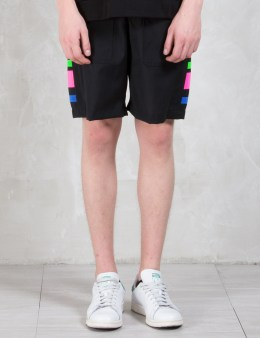 Munsoo Kwon Neon Taped Wide Shorts Picture