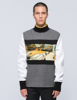 "Opening Ceremony ""Jet Fighter"" Mockneck Sweatshirt Picture"