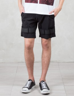 LETASCA Elastic Detail Nylon Shorts Picture