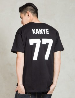 LES (ART)ISTS Black KANYE77 Football T-Shirt Picture