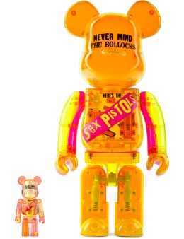 Medicom Toy 400% + 100% Sex Pistols  Bea@rbrick Set Clear Ver. Picture