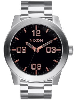Nixon Corporal SS with Rose Gold Dail Picture