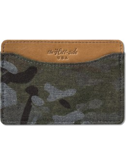 The Hill-Side Multicam Camo Back Side Print Denim Card Case Picture