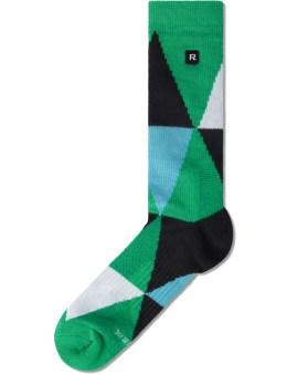 Richer Poorer Green Blitz Athletic Socks Picture
