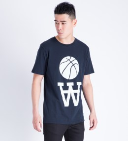 Wood Wood Navy Team AA Color T-Shirt Picture